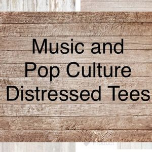 Other - ✨Music and Pop Culture Distressed Tees✨